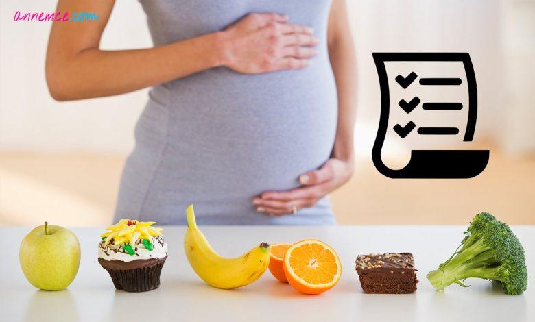Hamilelikte Sağlıklı Beslenme ve Diyet Listesi